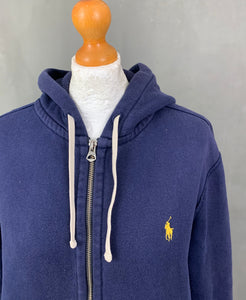 POLO RALPH LAUREN Ladies Blue HOODIE / HOODED TOP Size M Medium Hoody