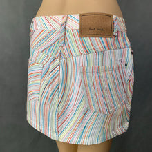 Load image into Gallery viewer, PAUL SMITH PINK Ladies Multicoloured Denim Mini SKIRT - Size IT 40 - UK 8