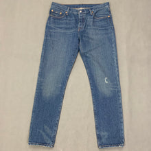 "Load image into Gallery viewer, LEVI STRAUSS &Co LEVI'S Blue Denim 501 CT JEANS Size Waist 28"" Leg 30"" LEVIS"