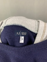Load image into Gallery viewer, ARMANI JEANS Mens Wool Blend HOODED JUMPER - Size Medium M