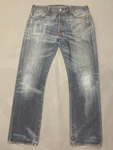 "Load image into Gallery viewer, LEVI STRAUSS &Co Mens LEVI'S Blue Denim 501 JEANS Size Waist 36"" Leg 32"" LEVIS"