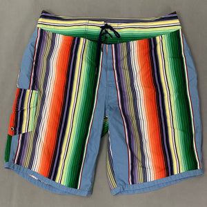 "POLO by Ralph Lauren Mens Colourful Stripey SHORTS - Size 34"" Waist"