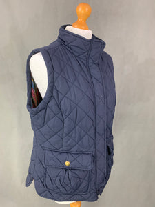 JOULES Ladies Navy Quilted GILET Size UK 16 - XL Extra Large