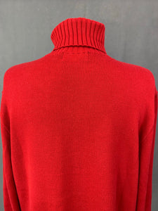 RALPH LAUREN Mens Red Roll Neck JUMPER Size XL Extra Large