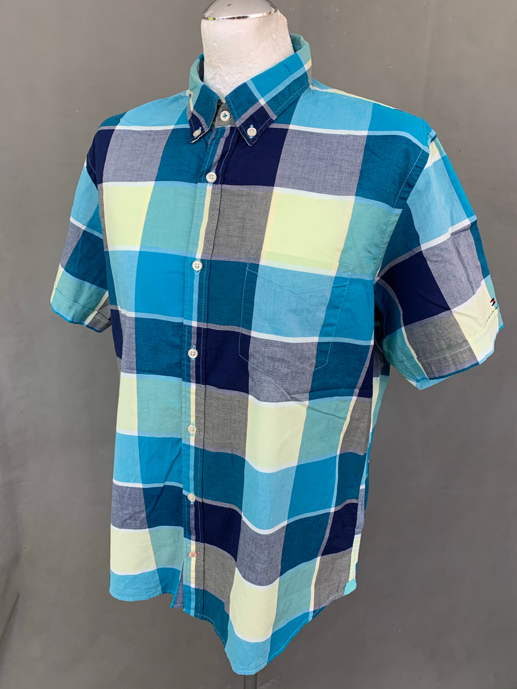 TOMMY HILFIGER Mens Check Pattern SHIRT - Size XL Extra Large