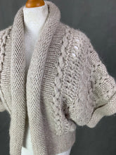Load image into Gallery viewer, NICOLE FARHI Ladies Super-Chunky Knit Alpaca Blend Cardigan Size Small S