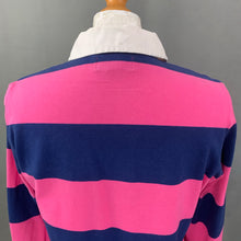 Load image into Gallery viewer, RALPH LAUREN Ladies Blue & Pink RUGBY SHIRT - Size LARGE L