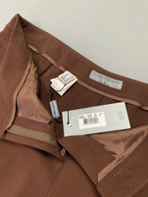 Load image into Gallery viewer, New ALBERTA FERRETTI Ladies Brown TROUSERS Size UK 16 - IT 48 BNWT