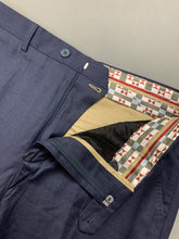 "Load image into Gallery viewer, New TED BAKER Mens DECTRO Blue TROUSERS Size 32R - Waist 32"" BNWOT"