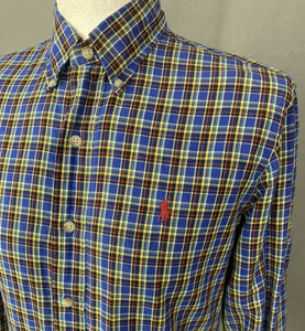 RALPH LAUREN Mens Check Pattern SHIRT Size S Small