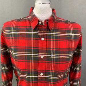 LEVI STRAUSS &Co Mens Red Checked SHIRT - Size Medium M LEVI'S LEVIS
