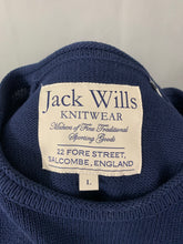 Load image into Gallery viewer, JACK WILLS Mens Navy Blue Crew Neck JUMPER - Size LARGE L