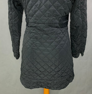 JOULES Ladies FAIRHURST Black QUILTED COAT Size UK 8 - XS Extra Small