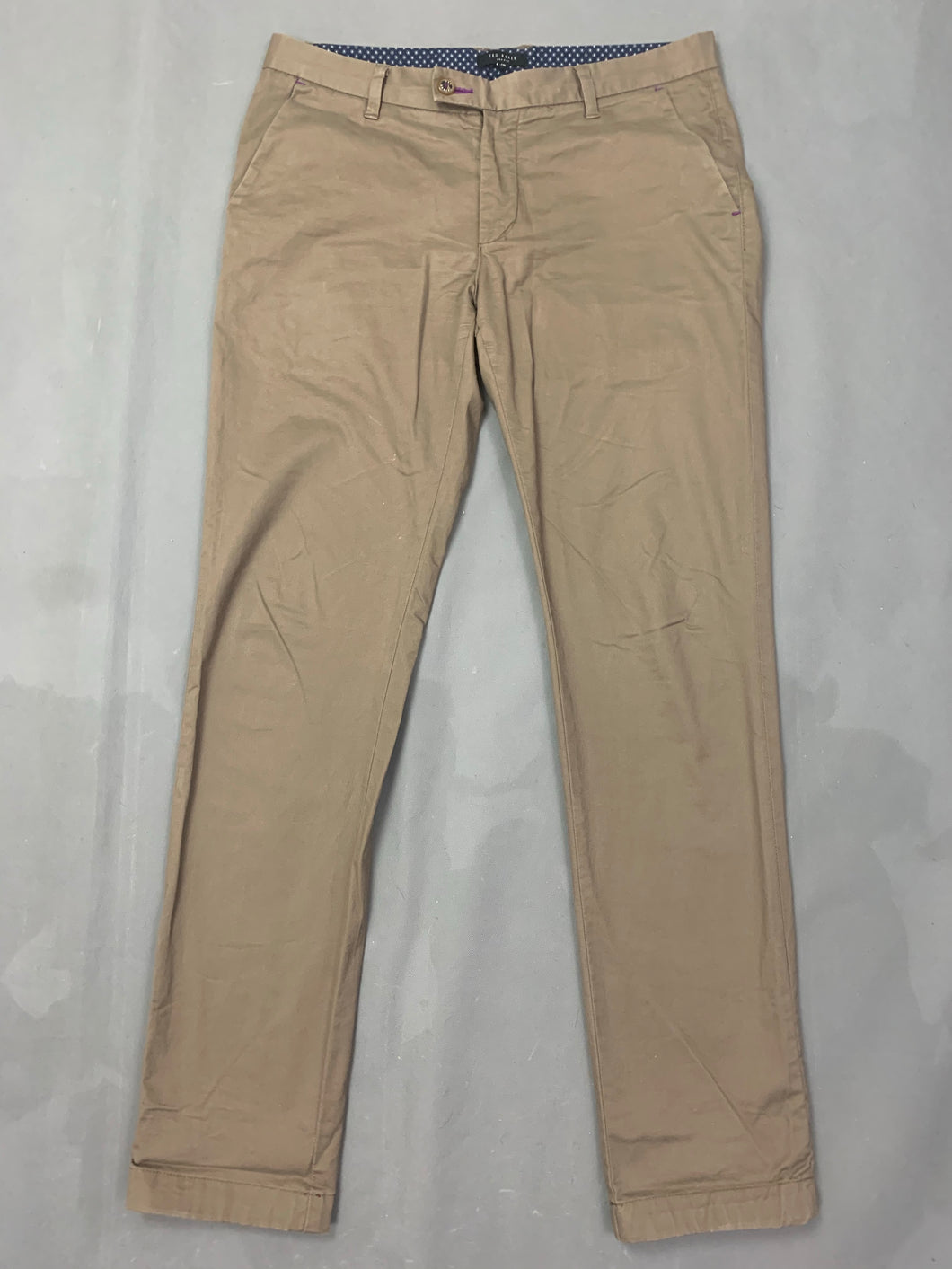 TED BAKER Mens SORCOR Tapered Leg TROUSERS Size 34L Waist 34