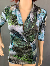 Load image into Gallery viewer, MARC CAIN Ladies Cotton & Silk TOP  Size N2 - UK 10 - Small S