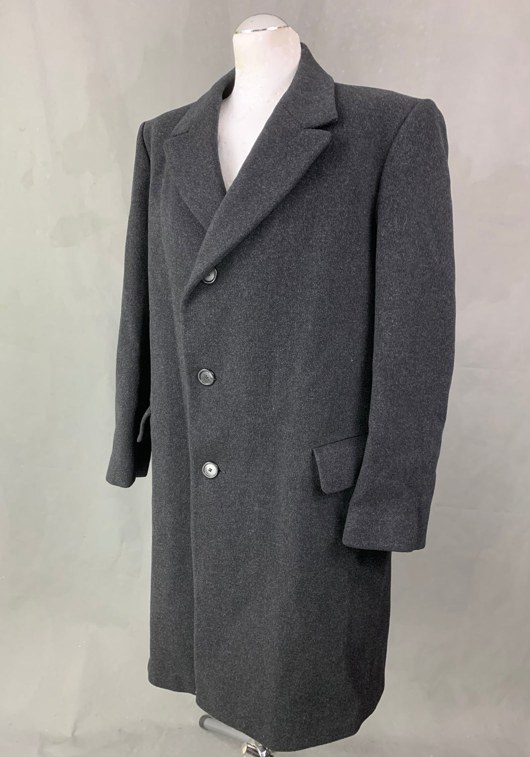 CROMBIE for John Lewis Mens 100% Wool COAT Size 46R Chest 46