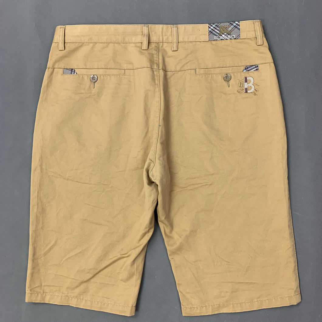 BURBERRY Mens Light Brown Cotton SHORTS - Size 38