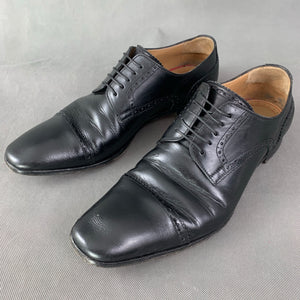 CHRISTIAN LOUBOUTIN Mens Black Leather Brogue Dress Shoes - Size EU 43 - UK 9