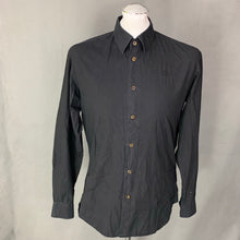 "Load image into Gallery viewer, VIVIENNE WESTWOOD MAN Black SHIRT Size It 46 - S Small - 36"" Chest"