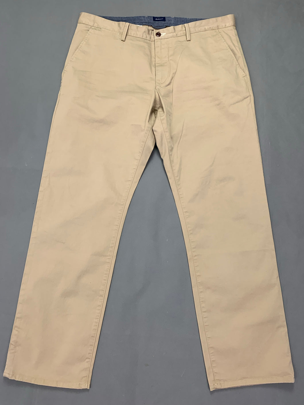 GANT Mens Beige Regular Fit Chinos / TROUSERS Size Waist 38