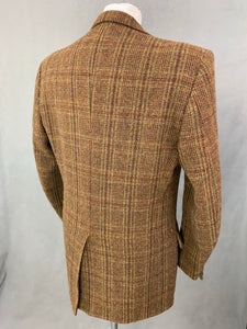 "Vintage HARRIS TWEED Mens BLAZER / JACKET by PERTH LTD Size 42R - 42"" Chest"