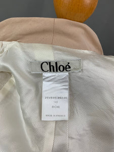 CHLOÉ Ladies BICHE Cotton JACKET - Size FR 38 - UK 10