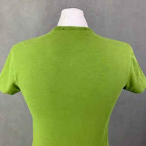 LOVE MOSCHINO Mens Green Crew Neck T-SHIRT Size Small S - TEE / TSHIRT
