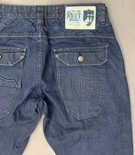 "Load image into Gallery viewer, 883 POLICE Mens HAVANA Blue Denim Regular Fit JEANS Size Waist 32"" - Leg 30"""