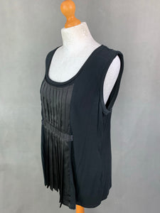 VERA WANG Ladies Black Panelled Top - Size Large - L