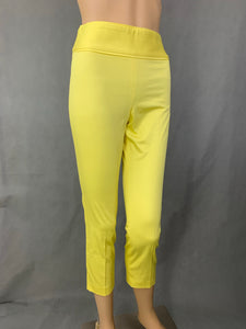 BOUTIQUE MOSCHINO Ladies YELLOW Cotton TROUSERS - Size IT 36 - UK 4