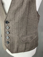 "Load image into Gallery viewer, ALLSAINTS Mens BERWICK WAISTCOAT - Size 40 - 40"" Chest - Large L"