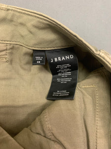 "J BRAND Ladies Green CARGO PANTS / TROUSERS Size Waist 28"" JBRAND"