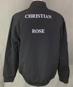 New CHRISTIAN ROSE Mens Black BOMBER JACKET / COAT Size 2XL XXL BNWT
