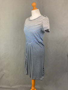 SPORTMAX CODE Ladies Grey Striped DRESS - Size Small - S