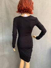 Load image into Gallery viewer, T ALEXANDER WANG Ladies Black Asymmetric DRESS - Size S Small