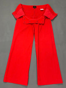 VIVIENNE WESTWOOD ANGLOMANIA Ladies Red TROUSERS - Size IT 38 - UK 6