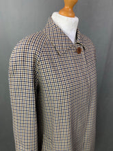 Load image into Gallery viewer, AQUASCUTUM Ladies VICUNA CLUB CHECK TRENCH COAT / MAC JACKET Size UK 10