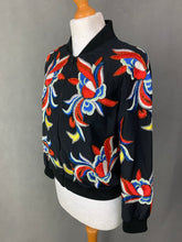 Load image into Gallery viewer, alice + olivia Black Silk FELISA Embellished BOMBER JACKET - Size XS Extra Small