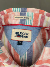 Load image into Gallery viewer, TOMMY HILFIGER Mens Linen Blend Striped SHIRT - Size XL Extra Large