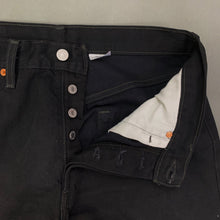 "Load image into Gallery viewer, LEVI STRAUSS &Co Mens LEVI'S Black Denim 501 JEANS Size Waist 33"" Leg 29"" LEVIS"