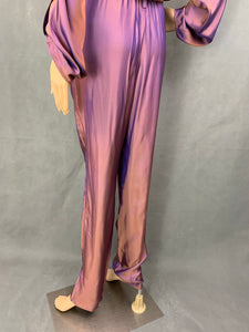 GUCCI Iridescent Purple & Bronze Silk Blend JUMPSUIT - Size IT 40 - UK 8 - XS