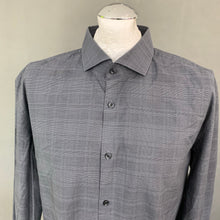 "Load image into Gallery viewer, HUGO BOSS Mens Grey Check Pattern SHIRT - Size 45"" Chest - 17.75"" Collar"