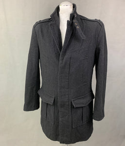 "TED BAKER Mens 100% Wool COAT Ted Size 4 - Large L - 40"" Chest"