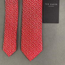 Load image into Gallery viewer, New TED BAKER Mens Red 100% SILK Micro Paisley CONURE 5.5cm TIE - BNWT