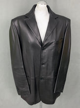 Load image into Gallery viewer, CERRUTI 1881 Mens Black Leather COAT / JACKET - Size IT 52 - XL Extra Large