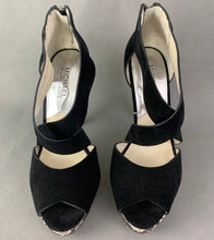 Load image into Gallery viewer, MICHAEL KORS Snakeskin Stiletto Heel Black Suede Shoes Size US 7 - UK 5 - EU 38