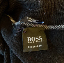 Load image into Gallery viewer, HUGO BOSS Mens EXTRAFINE MERINO Black Roll Neck JUMPER Size XL Extra Large