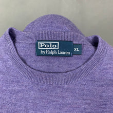 Load image into Gallery viewer, POLO by RALPH LAUREN Mens Purple Crew Neck JUMPER - Size XL Extra Large