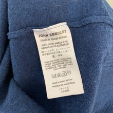 Load image into Gallery viewer, JOHN SMEDLEY Mens Blue Extrafine MERINO WOOL Roll Neck JUMPER Size XL Extra Large