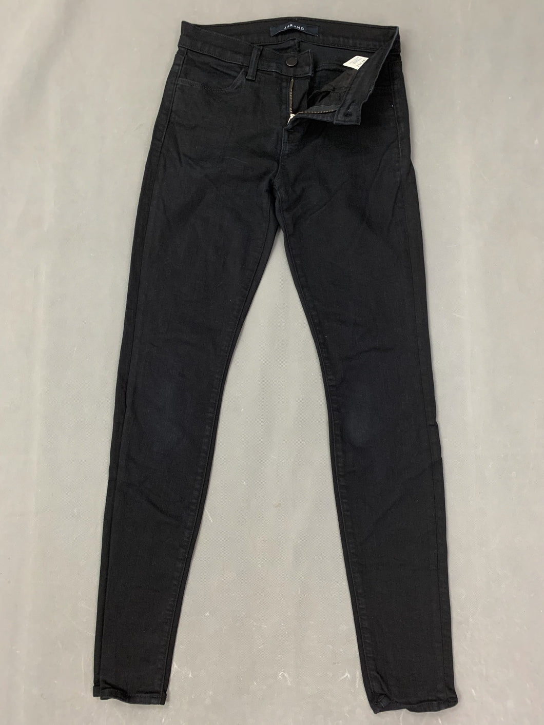 J BRAND Ladies Seriously Black SUPER SKINNY JEANS Size Waist 26